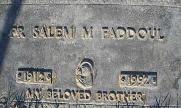 FADDOUL,  FR SALEM M - Mohave County, Arizona |  FR SALEM M FADDOUL - Arizona Gravestone Photos