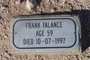 FALANCE, FRANK - Mohave County, Arizona | FRANK FALANCE - Arizona Gravestone Photos