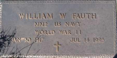 FAUTH, WILLIAM W - Mohave County, Arizona | WILLIAM W FAUTH - Arizona Gravestone Photos