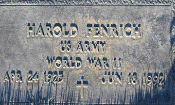FENRICH, HAROLD - Mohave County, Arizona   HAROLD FENRICH - Arizona Gravestone Photos