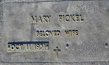 FICKEL, MARY - Mohave County, Arizona | MARY FICKEL - Arizona Gravestone Photos