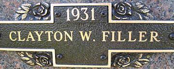 FILLER, CLAYTON - Mohave County, Arizona | CLAYTON FILLER - Arizona Gravestone Photos