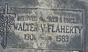 FLAHERTY, WALTER V - Mohave County, Arizona | WALTER V FLAHERTY - Arizona Gravestone Photos
