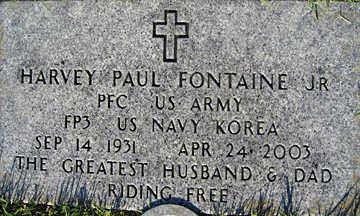 FONTAINE, HARVEY PAUL JR. - Mohave County, Arizona   HARVEY PAUL JR. FONTAINE - Arizona Gravestone Photos