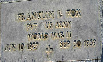 FOX, FRNAKLIN - Mohave County, Arizona | FRNAKLIN FOX - Arizona Gravestone Photos