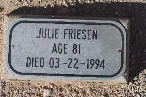 FRIESEN, JULIE - Mohave County, Arizona   JULIE FRIESEN - Arizona Gravestone Photos