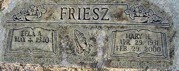 FRIESZ, BELA A - Mohave County, Arizona | BELA A FRIESZ - Arizona Gravestone Photos