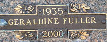 FULLER, GERALDINE - Mohave County, Arizona   GERALDINE FULLER - Arizona Gravestone Photos