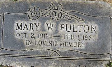 FULTON, MARY W - Mohave County, Arizona | MARY W FULTON - Arizona Gravestone Photos