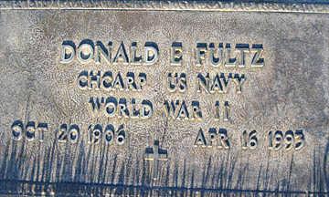 FULTZ, DONALD E - Mohave County, Arizona | DONALD E FULTZ - Arizona Gravestone Photos