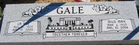 GALE, MILO MAX - Mohave County, Arizona | MILO MAX GALE - Arizona Gravestone Photos