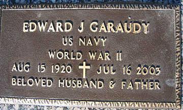 GARAUDY, EDWARD J - Mohave County, Arizona | EDWARD J GARAUDY - Arizona Gravestone Photos