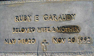 GARAUDY, RUBY E - Mohave County, Arizona | RUBY E GARAUDY - Arizona Gravestone Photos