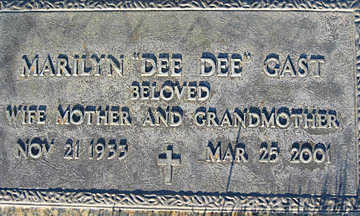 GAST, MARILYN - Mohave County, Arizona | MARILYN GAST - Arizona Gravestone Photos