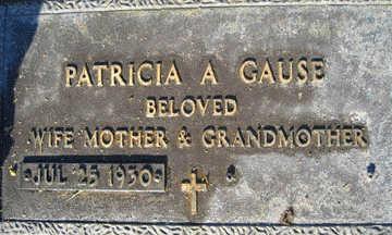 GAUSE, PATRICIA A - Mohave County, Arizona | PATRICIA A GAUSE - Arizona Gravestone Photos