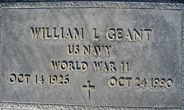 GEANT, WILLIAM L - Mohave County, Arizona   WILLIAM L GEANT - Arizona Gravestone Photos