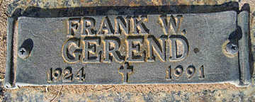 GEREND, FRANK - Mohave County, Arizona | FRANK GEREND - Arizona Gravestone Photos