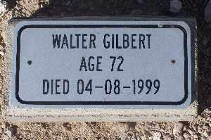 GILBERT, WALTER - Mohave County, Arizona   WALTER GILBERT - Arizona Gravestone Photos