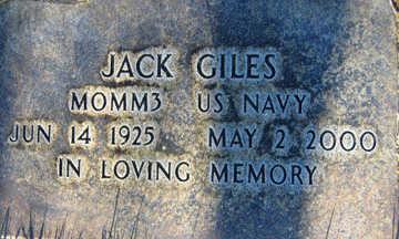 GILES, JACK - Mohave County, Arizona | JACK GILES - Arizona Gravestone Photos
