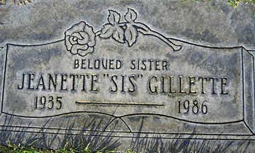 GILLETTE, JEANETTE - Mohave County, Arizona | JEANETTE GILLETTE - Arizona Gravestone Photos