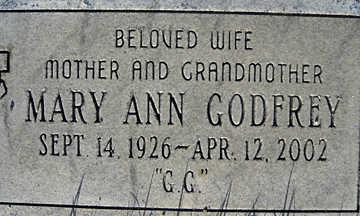 GODFREY, MARY ANN - Mohave County, Arizona | MARY ANN GODFREY - Arizona Gravestone Photos