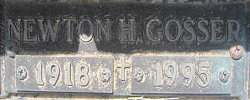 GOSSER, NEWTON H - Mohave County, Arizona | NEWTON H GOSSER - Arizona Gravestone Photos