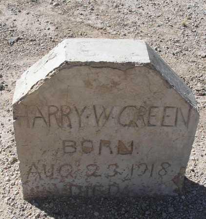 GREEN, HARRY W. - Mohave County, Arizona | HARRY W. GREEN - Arizona Gravestone Photos
