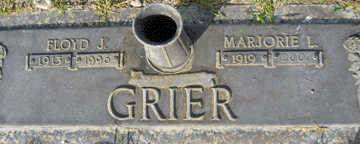GRIER, MARJORIE L - Mohave County, Arizona | MARJORIE L GRIER - Arizona Gravestone Photos