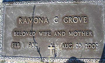 GROVE, RAMONA C - Mohave County, Arizona | RAMONA C GROVE - Arizona Gravestone Photos