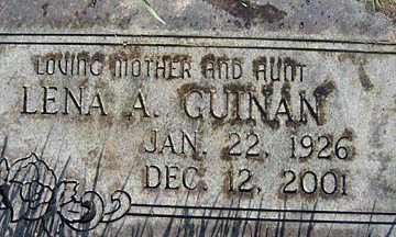 GUINAN, LENA A - Mohave County, Arizona | LENA A GUINAN - Arizona Gravestone Photos