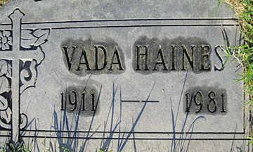 HAINES, VADA - Mohave County, Arizona | VADA HAINES - Arizona Gravestone Photos
