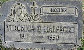 HALFACRE, VERONICA E - Mohave County, Arizona   VERONICA E HALFACRE - Arizona Gravestone Photos