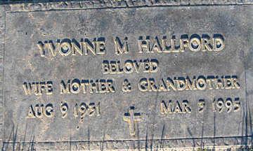 HALLFORD, YVONNE M - Mohave County, Arizona   YVONNE M HALLFORD - Arizona Gravestone Photos