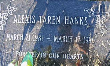 HANKS, ALEXIS TAREN - Mohave County, Arizona   ALEXIS TAREN HANKS - Arizona Gravestone Photos