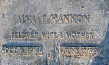HANNON, ALVA F - Mohave County, Arizona | ALVA F HANNON - Arizona Gravestone Photos