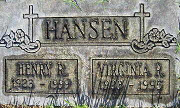 HANSEN, HENRY R - Mohave County, Arizona | HENRY R HANSEN - Arizona Gravestone Photos