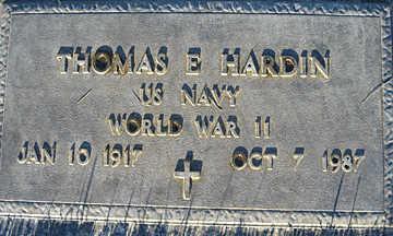 HARDIN, THOMAS E - Mohave County, Arizona | THOMAS E HARDIN - Arizona Gravestone Photos