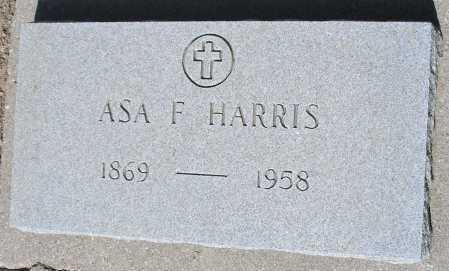 HARRIS, ASA F. - Mohave County, Arizona   ASA F. HARRIS - Arizona Gravestone Photos