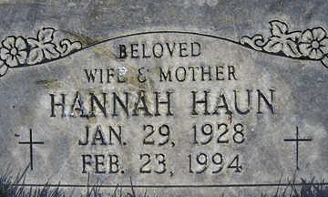 HAUN, HANNAH - Mohave County, Arizona   HANNAH HAUN - Arizona Gravestone Photos