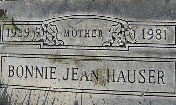 HAUSER, BONNIE JEAN - Mohave County, Arizona | BONNIE JEAN HAUSER - Arizona Gravestone Photos