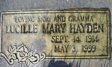 HAYDEN, LUCILLE MARY - Mohave County, Arizona | LUCILLE MARY HAYDEN - Arizona Gravestone Photos