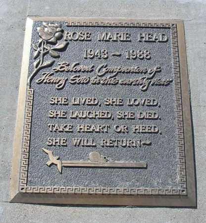 HEAD, ROSE MARIE - Mohave County, Arizona | ROSE MARIE HEAD - Arizona Gravestone Photos