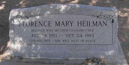 HEILMAN, FLORENCE MARY - Mohave County, Arizona   FLORENCE MARY HEILMAN - Arizona Gravestone Photos