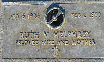 HELPHREY, RUTH V - Mohave County, Arizona   RUTH V HELPHREY - Arizona Gravestone Photos