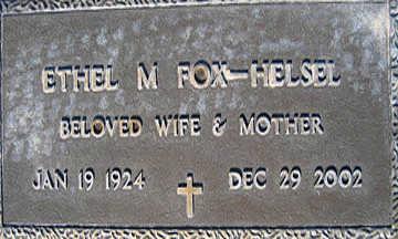 HELSEL, ETHEL M - Mohave County, Arizona   ETHEL M HELSEL - Arizona Gravestone Photos