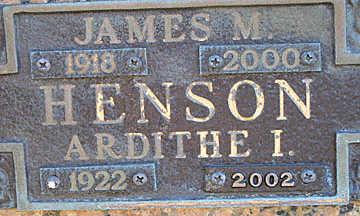 HENSON, ARDITHE I - Mohave County, Arizona | ARDITHE I HENSON - Arizona Gravestone Photos