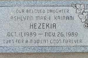 HEZEKIA, ASHLYNN MARIE KAINANI - Mohave County, Arizona   ASHLYNN MARIE KAINANI HEZEKIA - Arizona Gravestone Photos