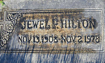 HILTON, JEWEL F - Mohave County, Arizona | JEWEL F HILTON - Arizona Gravestone Photos