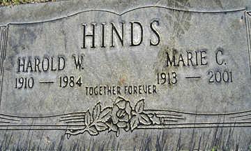 HINDS, HAROLD W - Mohave County, Arizona | HAROLD W HINDS - Arizona Gravestone Photos