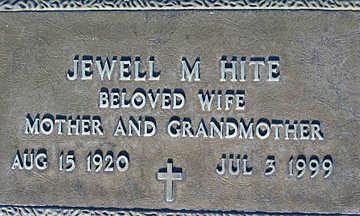 HITE, JEWELL M - Mohave County, Arizona   JEWELL M HITE - Arizona Gravestone Photos